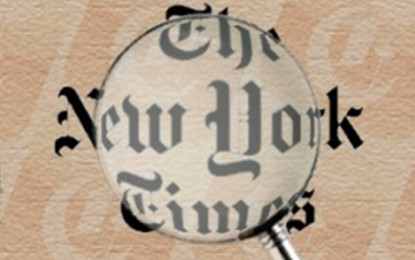New York Times Gets Hysterical Over Netanyahu/by Simon Plosker