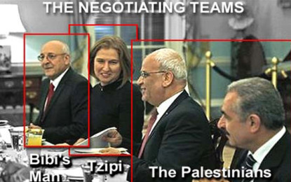The negotiating teams for peace talks between Israel and the Palestinians