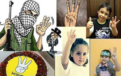 Three Fingered Salute – New Low, Even for 'Palestinian' Society by Shalom Bear