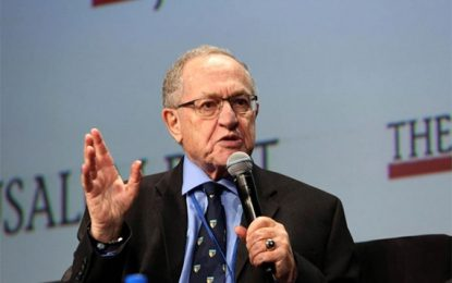ALAN DERSHOWITZ PUBLISHES OPEN LETTER TO A-G DEFENDING NETANYAHU BY URI BOLLAG