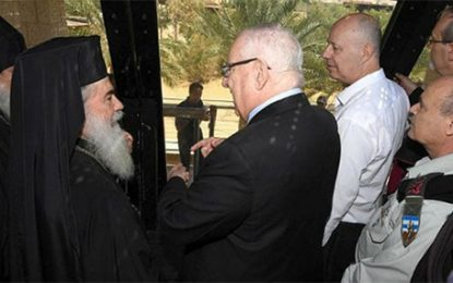 Rivlin Tours 'Land of Monasteries' with Heads of Israel's Churches