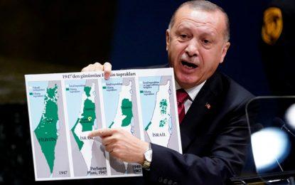 TURKEY'S ERDOGAN: ISRAEL WAS ORIGINALLY MOSTLY PALESTINIAN BY TOVAH LAZAROFF